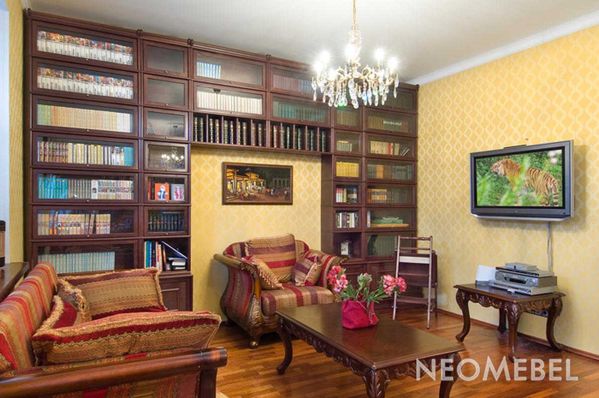 Домашняя библиотека - мебель и дизайн - фото.
